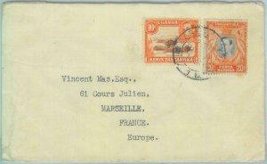 83455 - KENYA UGANDA TANGANIKA - POSTAL HISTORY -  COVER to FRANCE 1940's