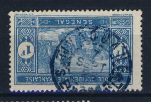 SÉNÉGAL - 1926 CAD TIVAOUANE / SÉNÉGAL sur 1fr Bleu-Clair MARCHÉ INDIGÈNE N°85