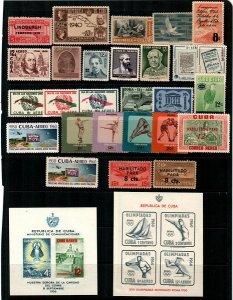 Cuba Scott C2 // C225 Mint NH Airmails (Catalog Value $93.00)