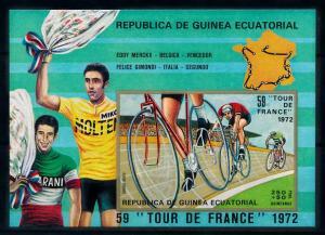 [99974] Equatorial Guinea 1973 Sport Cycling Tour de France Imperf. Sheet MNH