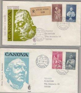 1958 City Del Vatican/Vatikan City, FDC Venetia N° 243/246