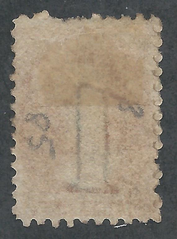 TASMANIA 1863 QV CHALON 1D PERF 10