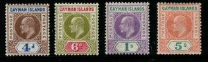 CAYMAN ISLANDS SG13/6 1907 DEFINITIVE SET MTD MINT