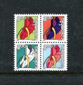 Colombia 874a, MNH, Flowers Anthurium Narinenses 1975. x23166