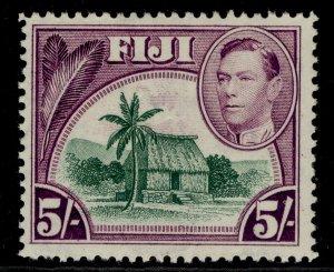 FIJI GVI SG266, 5s green & purple, M MINT.