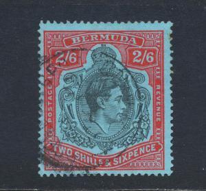 BERMUDA 1941, 2sh6d REPAIRED STATE POS 59 (R5/11) VERY SCARCE, VFU SG#117var