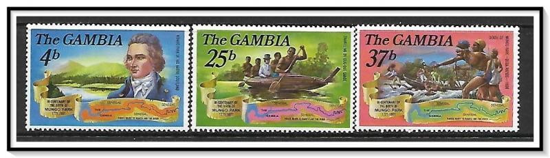 Gambia #270-272 Mungo Park MNH