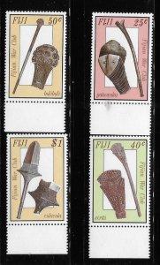 Fiji 1986 Ancient War Clubs Sc 560-563 MNH A1762