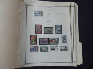 Ceylon 1935-1952 Stamp Collection on Scott Specialty Album Pages