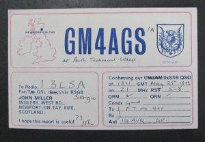 6404 Amateur Radio QSL Card Newport on Tay Scotland