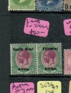 SOUTH WEST AFRICA (PP2112B)  KGV  2/6  SG 24   MOG