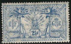 British New Hebrides Attractive SC#20 Mint F-VF hr.SCV$3.50...Grab a Bargain!