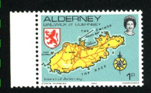 Alderney #1   with tab Mint NH VF 1983 PD