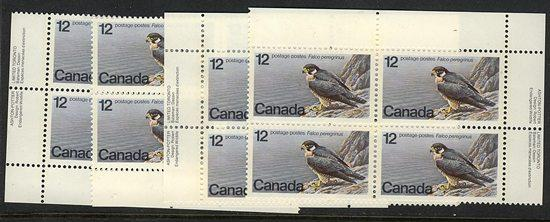Canada USC #752 Mint MS VF-NH 1978 12c Peregrine Falcon Face Alone $1.92