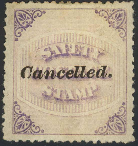 65E Var, SAFETY POSTAGE ESSAY STAMP - UNIQUE