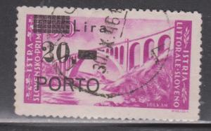 ISTRIA (SLOVENIA OCCUPATION) Scott # J12 - Used - Italian Stamp Overprinted