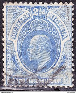 SOUTHERN NIGERIA 1909 KEDVII 2.5d Blue SG36 Used