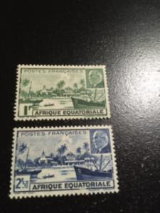 French Equatorial Africa sc 79a-b MH