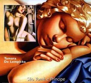 Sao Tome & Principe 2005 Tamara De Lempicka PAINTINGS s/s Perforated mnh.vf