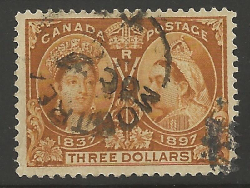 Canada #63 USED XF SELECT Jubilee -- SON CDS Montreal Cancel RRR