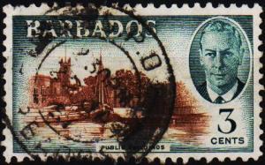 Barbados. 1950 3c S.G.273 Fine Used