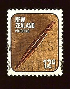 New Zealand 612 12c Putorino, carved flute used