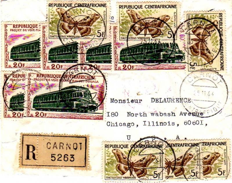 French Equatorial Africa 1964 Postal History
