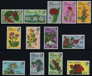 Gambia 354-66 MNH Flowers & Shrubs