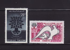 Tunisia 366-367 Set MNH World Refugee Year (A)