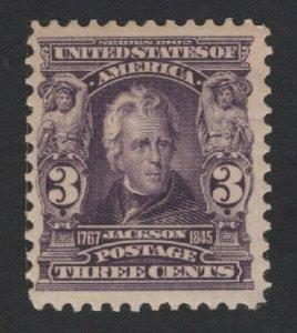 United States MINT Scott Number 302 MH  VF  -  BARNEYS