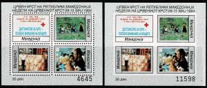 1994 Macedonia Postal Tax Souvenir Sheets Scott Catalog Number RA54a Unused