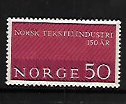 NORWAY, 445, MINT HINGED, PATTERNED FABRIC