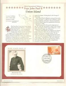 COVER,TRIBUTES POPE JOHN PAUL II, 2005 UNION ISLAND # P1