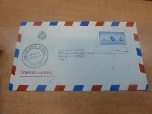 Costa Rica Official A/M envelope to USA