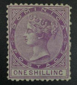MOMEN: DOMINICA SG #3 1874 P12.5 CROWN CC MINT OG LH £325 LOT #62137