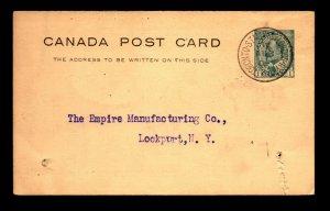 Canada 1906 Toronto St Mary's & London RPO Card / Minor Scuffs - L27789