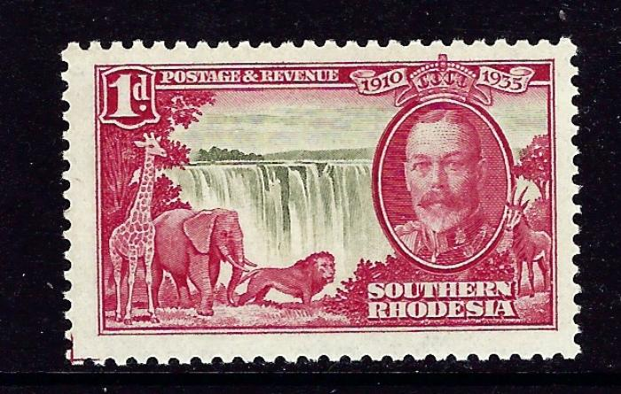 Southern Rhodesia 33 MNH 1935 from Silver Jubilee set