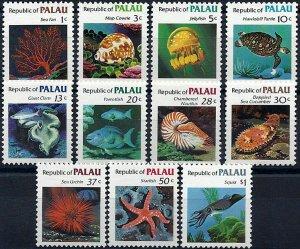1983 Palau-Inseln Meerestiere, Fische, Fish, Freimarken, MiNr. 9-19 ** KAT 8€