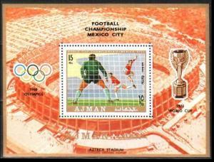 1970 Ajman 531/B189 1970 World championship on football of Mexico 10,00 €