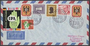 GERMANY 1956 Airmail cover - great franking + cinderella....................B318