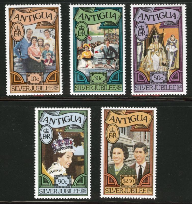 ANTIGUA Scott 459-63 Royal Family MNH** set 1977