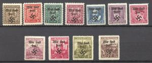 Sudetenland, Rumburg 1938  Lot of 11 different lightl hinged stamps