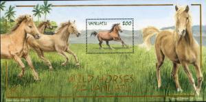 VANUATU 803a MH S/S SCV $4.25 BIN $2.00 HORSES