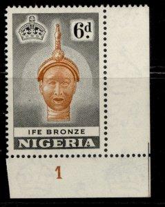 NIGERIA QEII SG75, 6d orange-brown & black, LH MINT. CONTROL