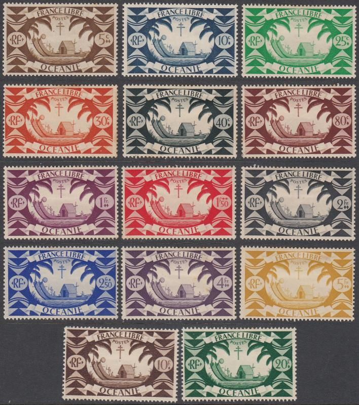 French Polynesia 136-149 MH CV $16.05