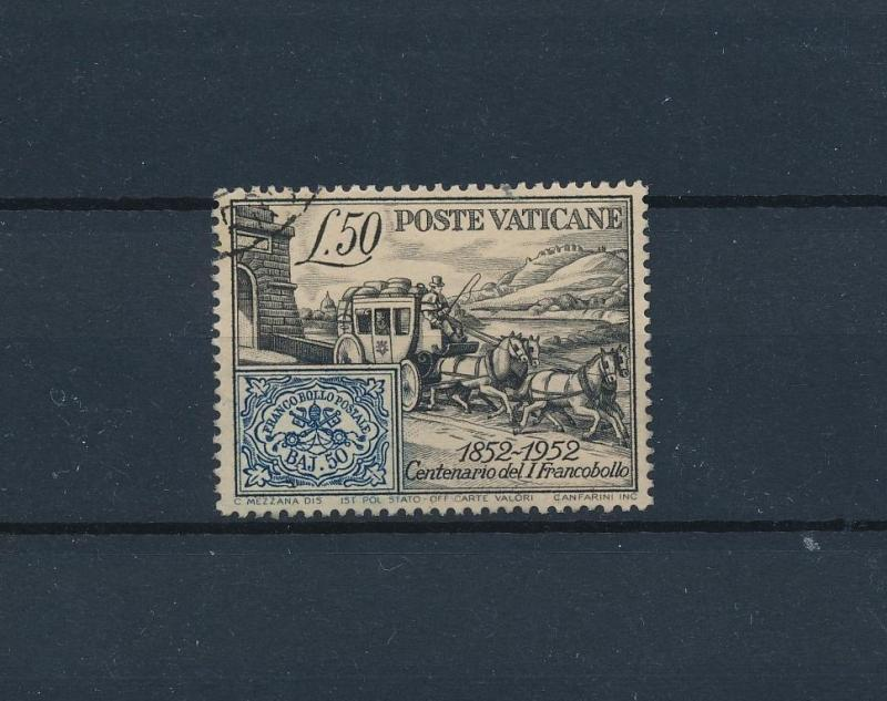 [57800] Vatican 1952 Horse and carriage Stamp on stamp Used