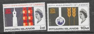 Pitcairn Islands #64-65 UNESCO 20th Anniversay  (MNH)CV$4.35