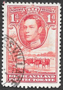 Bechuanaland Protectorate Scott #125 1p George VI Cattle (1938) Used