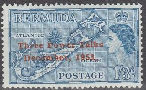 Bermuda #165 F-VF Unused  (S183)
