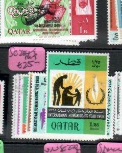 QATAR (P2708B)   UNITED NATIONS HR YEAR  SG 234-9   MOG